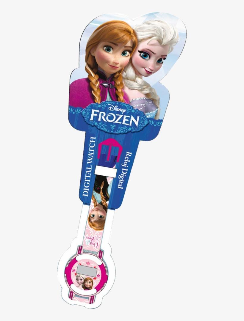 Official Wrist Watch Disney Frozen Anna E Elsa - Frozen, transparent png #8366898