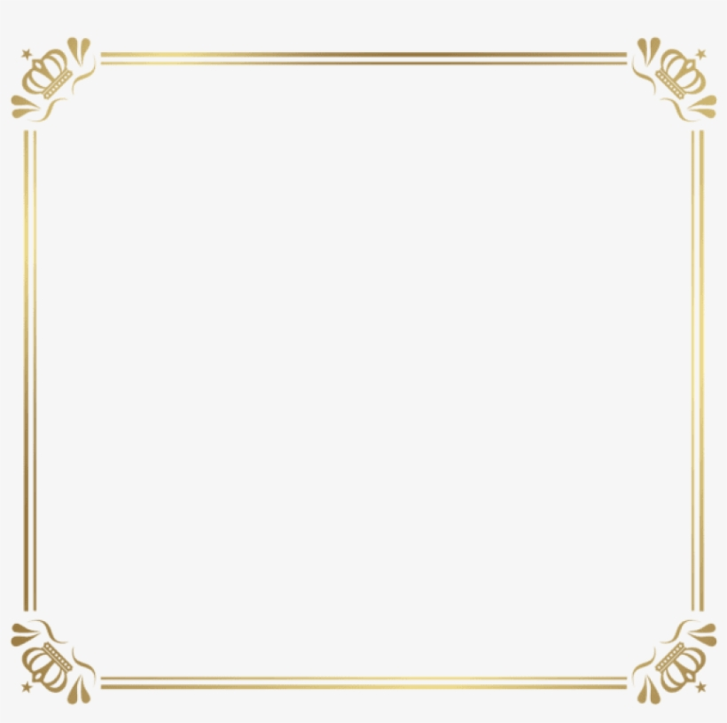 Free Png Download Frame Border With Crowns Clipart - Frame Png Frame Border, transparent png #8367430