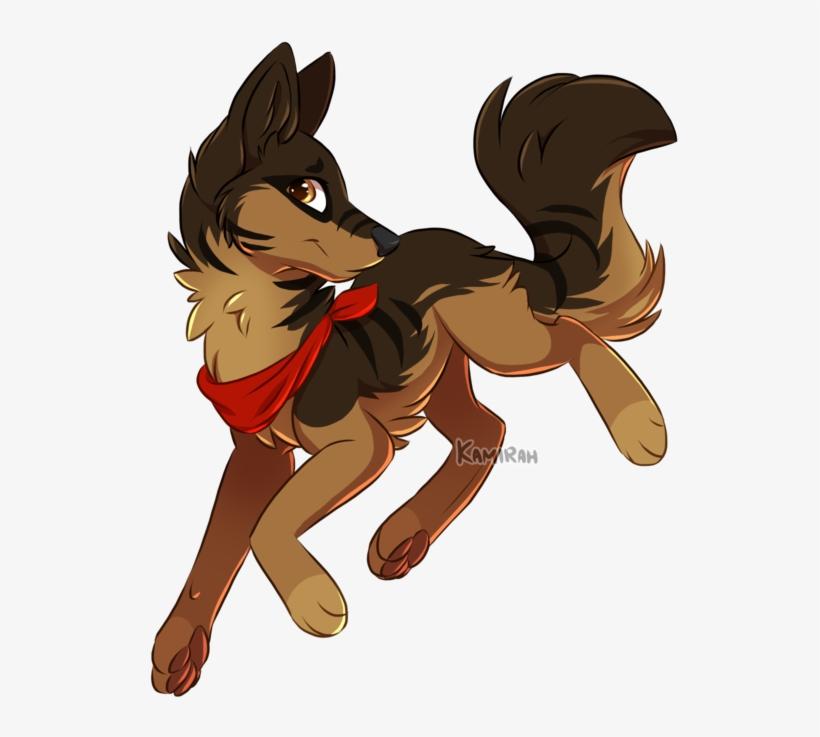 Aveah By Kamirah - Anime German Shepherd Drawing, transparent png #8370068
