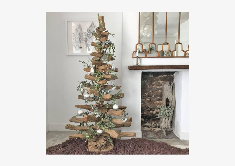 Driftwood Christmas Tree Not On The High Street - Decorated Driftwood Christmas Trees, transparent png #8375120