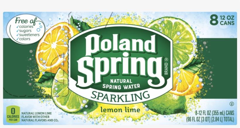 Poland Spring Lemonade Lime Sparkling Water, 12 Fl - Lime, transparent png #8376246