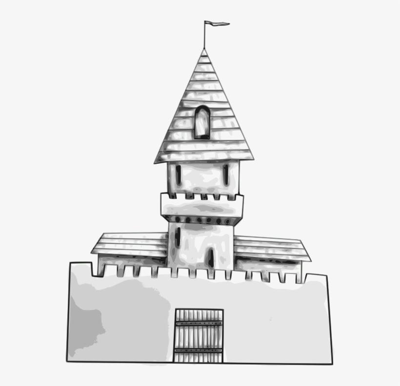 Castle - Un Castillo Con Un Trono En El Medio Para Dibujar Facil, transparent png #8377631