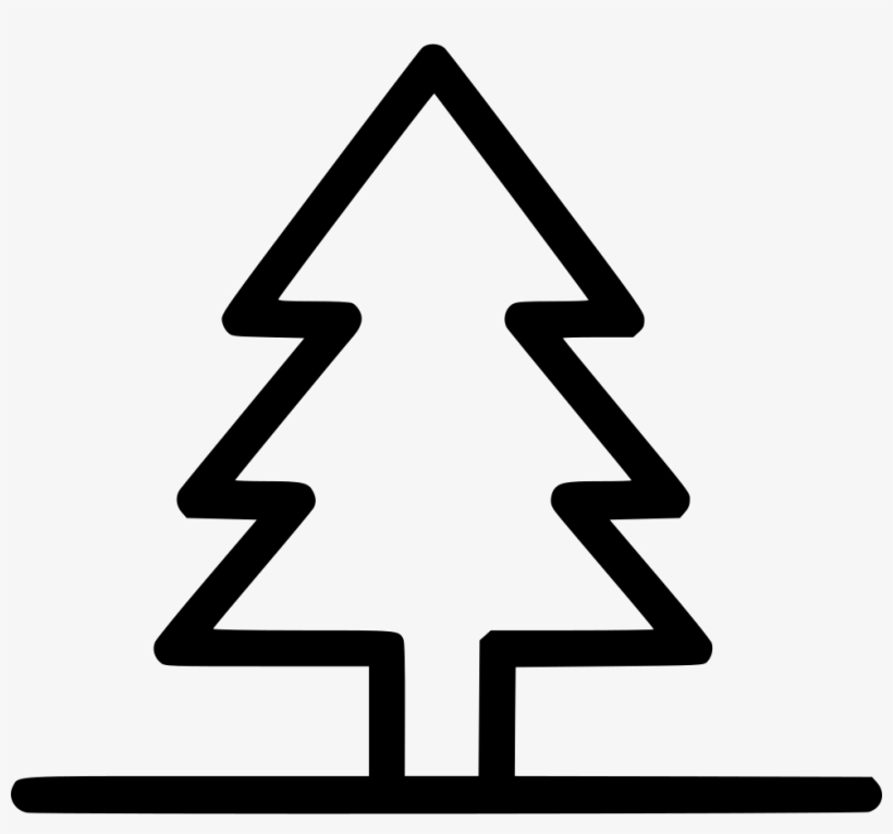 Park Tree Forest Comments - Christmas Tree Outline Png, transparent png #8385117