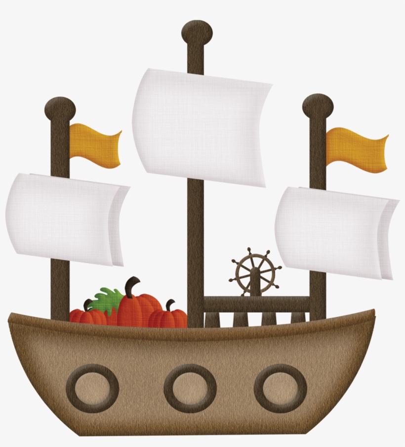 Clip Freeuse Battleship Clipart Big Boat - Pilgrim Boat Clip Art, transparent png #8390290