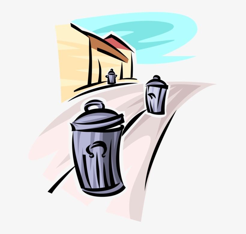 Vector Illustration Of Waste Basket, Dustbin, Garbage - Illustration, transparent png #8392069