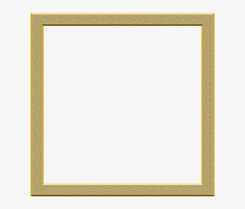 Cadre Png Transparent - Square Gold Frame Border, transparent png #8394265