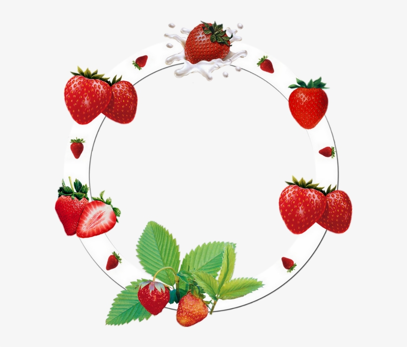 Vector Black And White Library Cadre Png Fraises Frame - Strawberry, transparent png #8395361