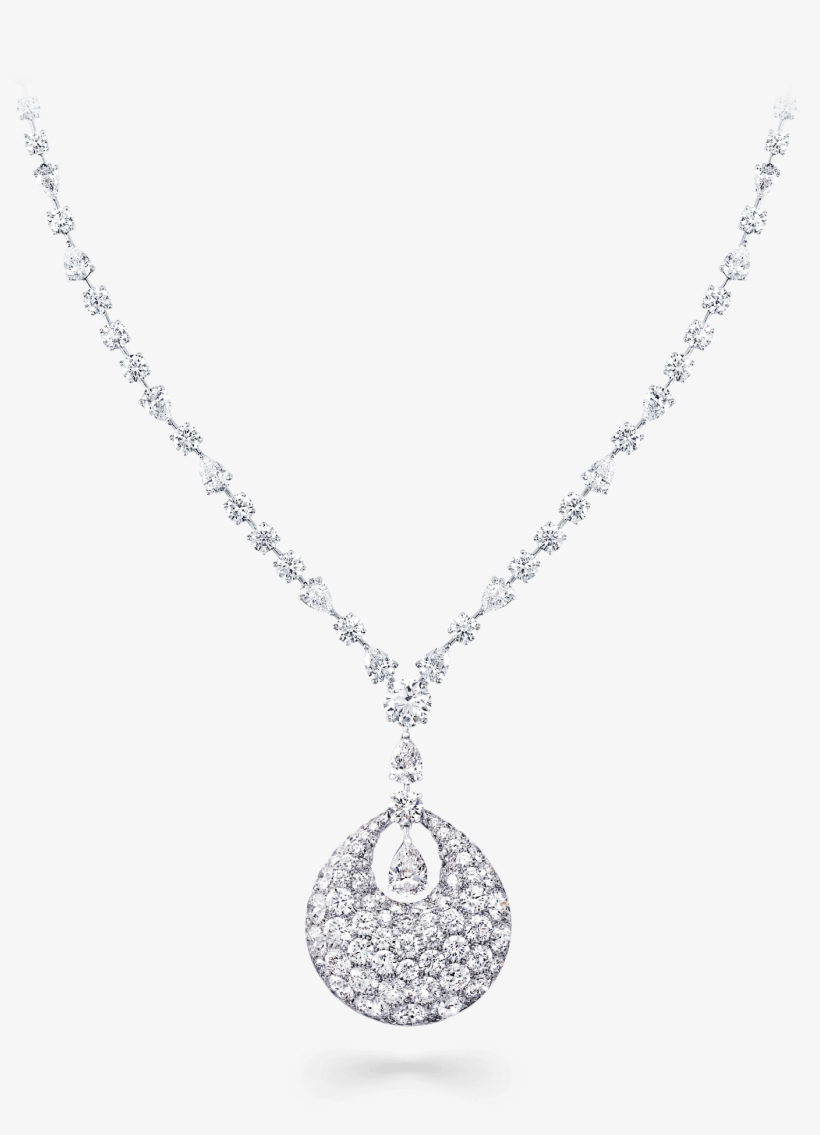 Drawn Diamonds Diamond Necklace - Design Gold Long Chain For Women, transparent png #8397108