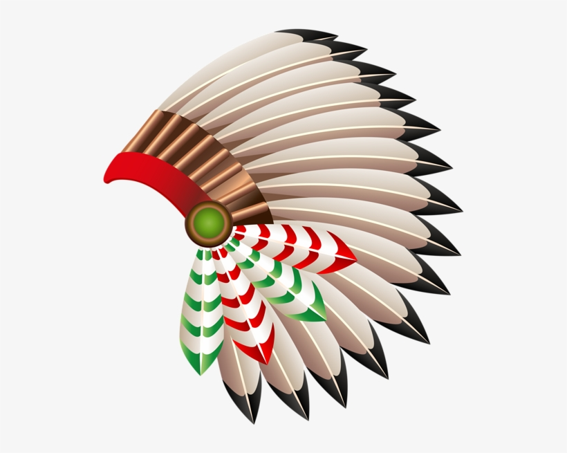 Native American Chief Hat Transparent Png Clip Art - Red