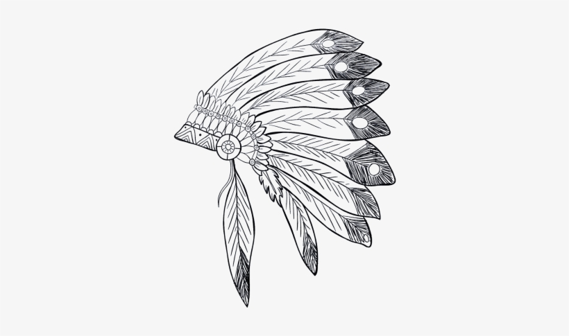 Indian,native American Indian - Native American Warrior Drawings, transparent png #840951