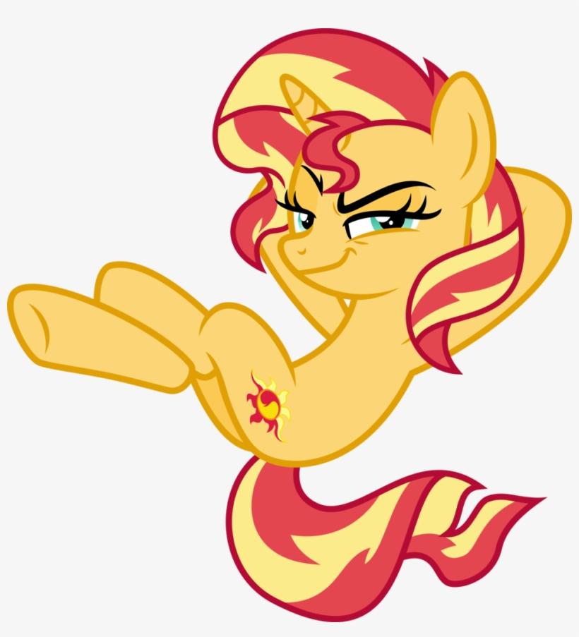 Unicorn Transparent Evil - Sunset Shimmer Evil Pony, transparent png #841281