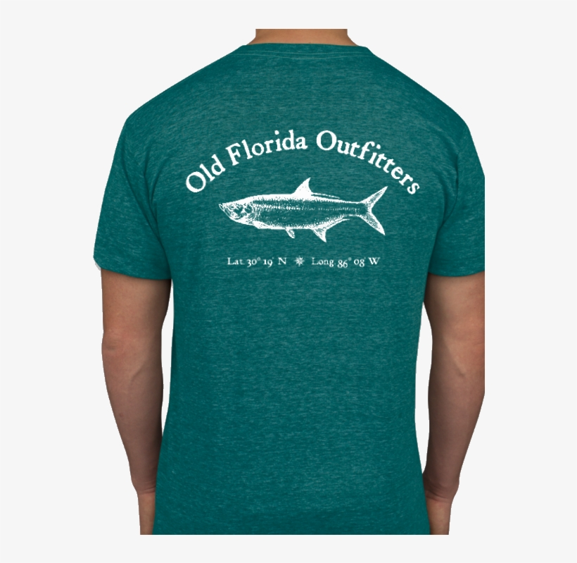 Ofo Short Sleeve Logo Jersey Knit Tshirt In Evergreen/white - T-shirt, transparent png #842309