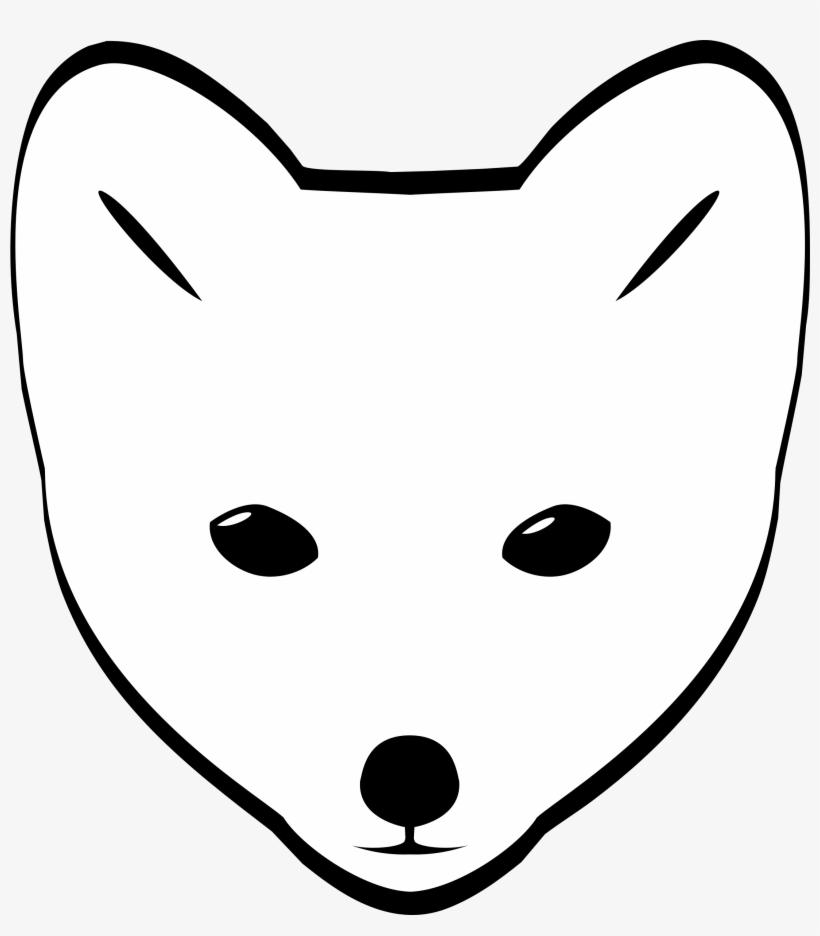 Easy face. Clipart arctic fox head