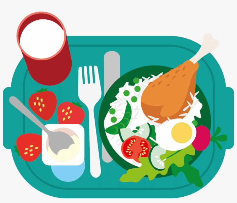 School Lunch Png Jpg Transparent Download - Healthy Food