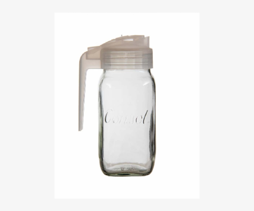 Consol Milk Jug With Frosted White Plastic Lid (sold - Jug, transparent png #845482