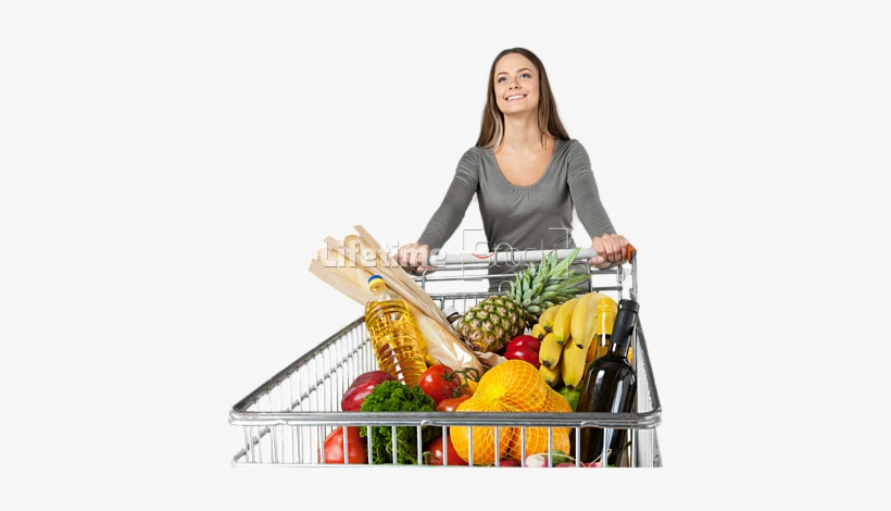 Grocery Shopping Cart Png Image Background - Grocery Shopping Cart Png, transparent png #847719