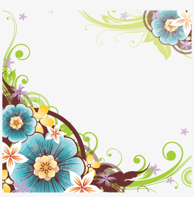 Flower Corner Png - Flower Vector Border Png, transparent png #849295