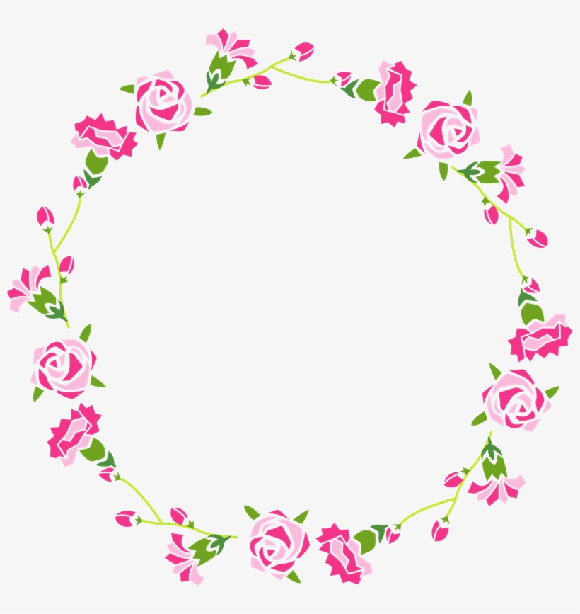 Borders And Frames, Ale, Moldings, Frames, Cover Pages, - Flower Frame Circle Png, transparent png #849721