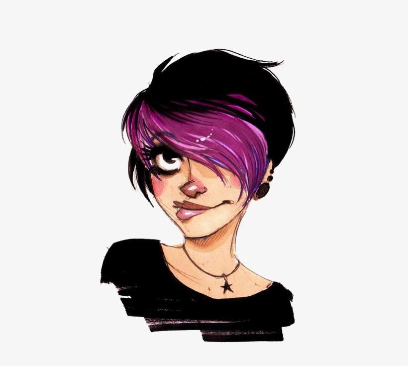 Bangs Deviantart Pixie Cut Hair Girls Transprent - Short Hair Girl Drawing, transparent png #849879