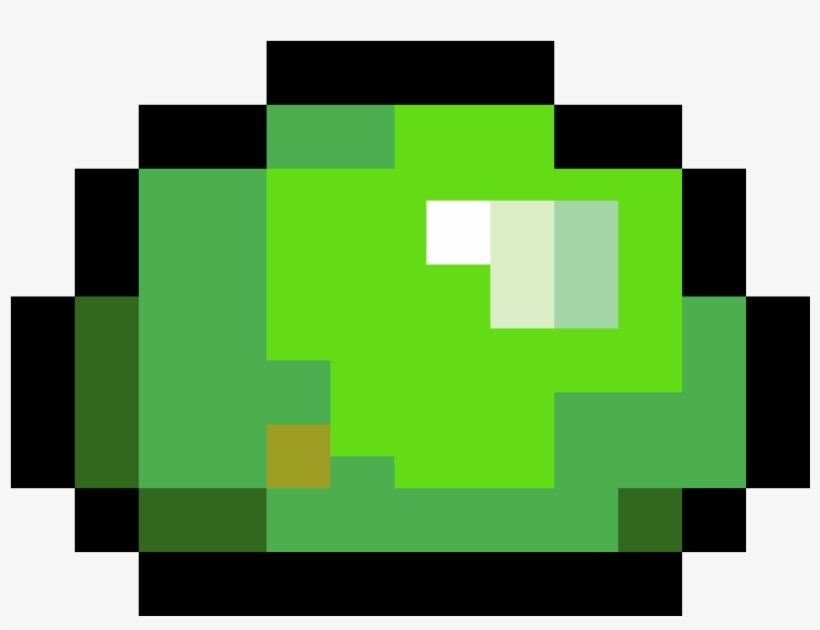 Green Slime - Terraria Blue Slime, transparent png #8412648