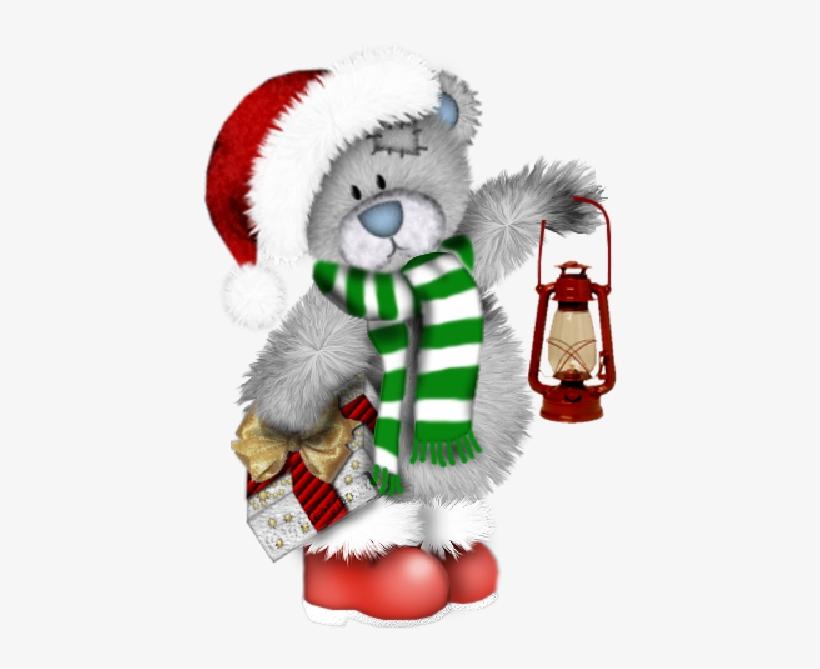 Merry Christmas - Christmas Teddy Bear Clipart, transparent png #8421449