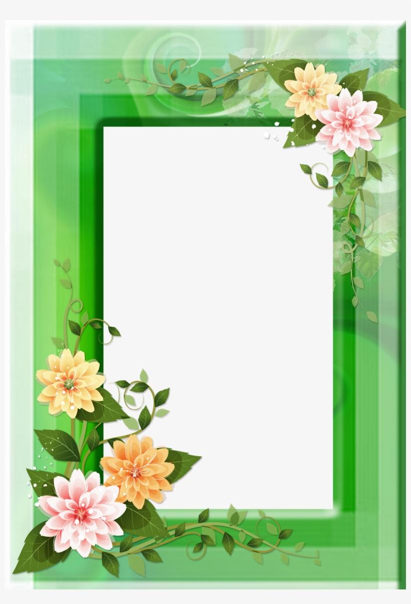 20 Frames Png Com Flores - Flower Paper Border Design, transparent png #8424942
