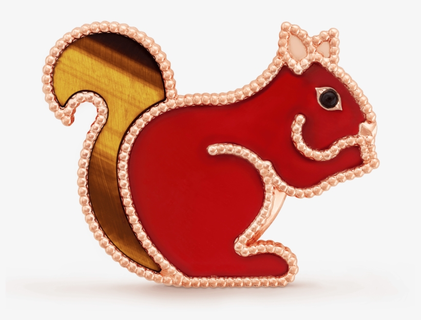 Lucky Animals Squirrel Clip, - Van Cleef & Arpels New Animal Collection, transparent png #8427866