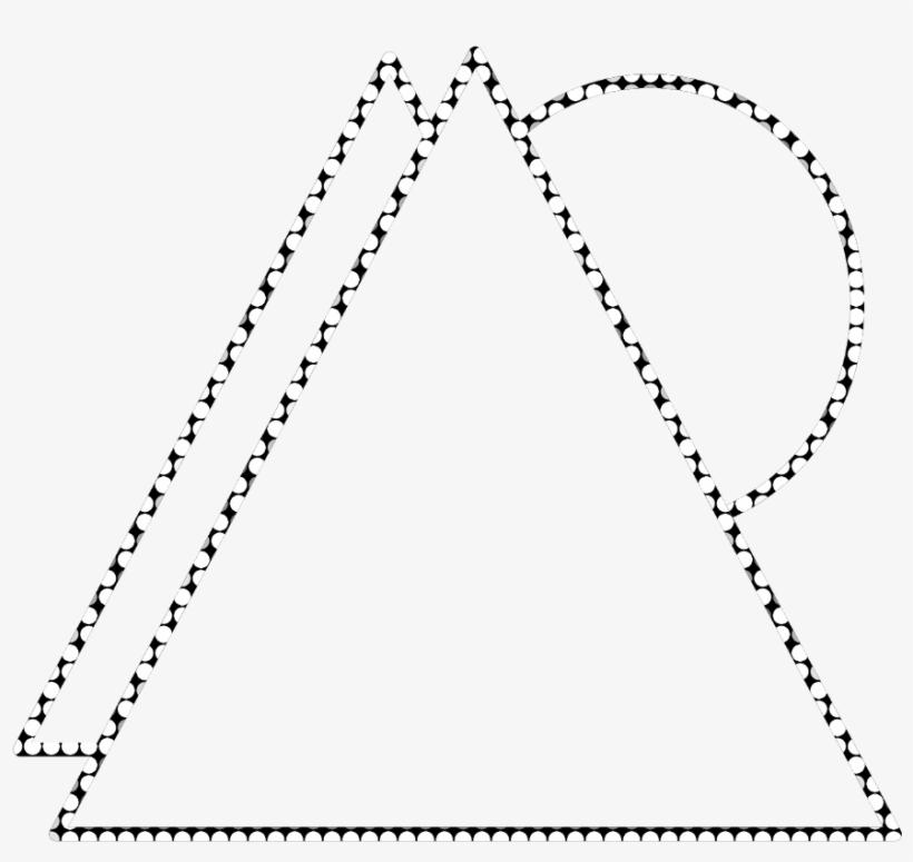 Geometric Triangle Neon Round Border Frame Freetoedit - Plot, transparent png #8427876