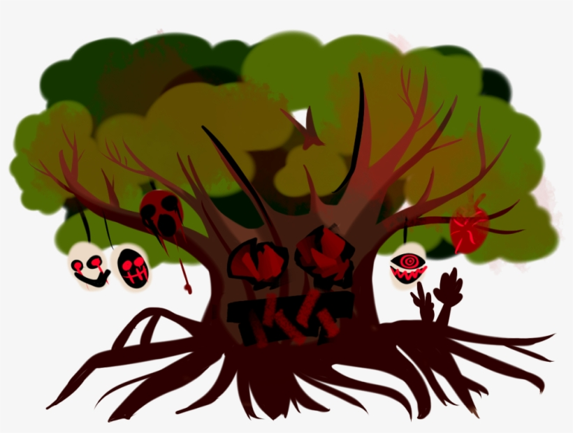One Creepy Tree And One Piece Of Background, transparent png #8431551