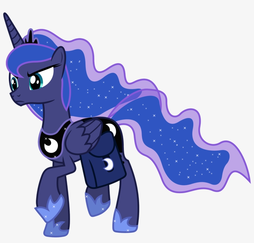 In The Alternate World Shown In My Little Pony - My Little Pony Princess Luna Mad, transparent png #8441429