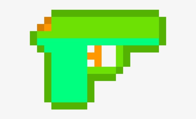 Water Gun - Rainbow Heart Pixel Art, transparent png #8441551