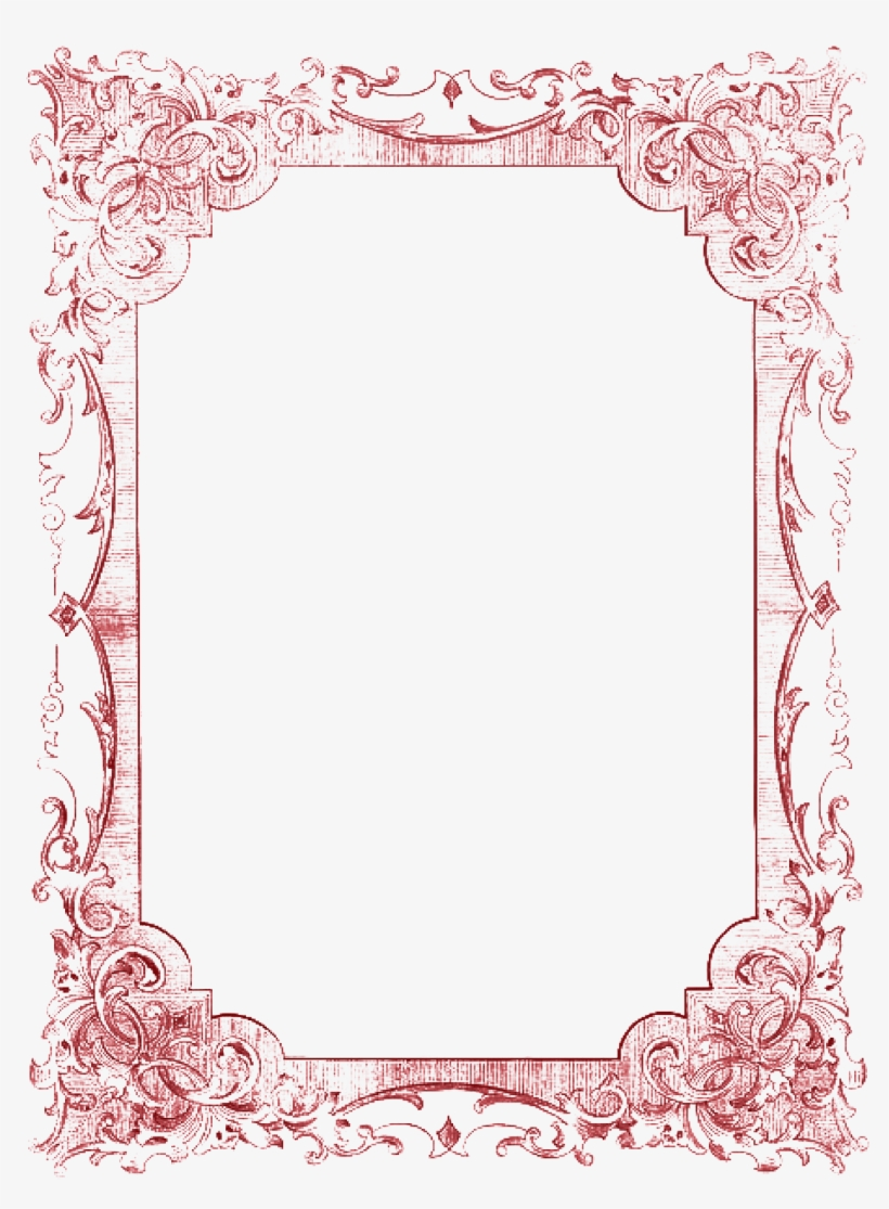 Picture Frame Romance Red - Christmas Tea Party Menu, transparent png #8442060