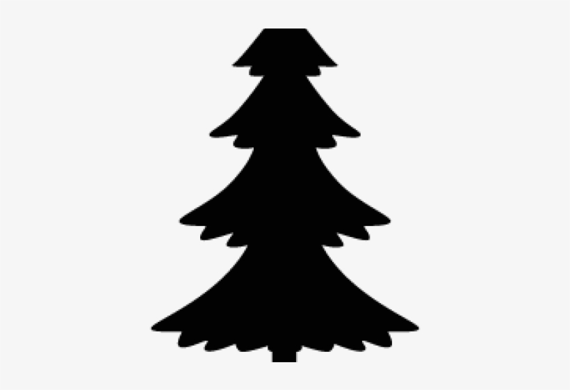 Christmas Tree Silhouette - Easy Pine Tree Silhouette, transparent png #8445758