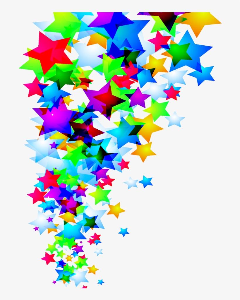 Mq Sticker - Rainbow Five Stars, transparent png #8449885