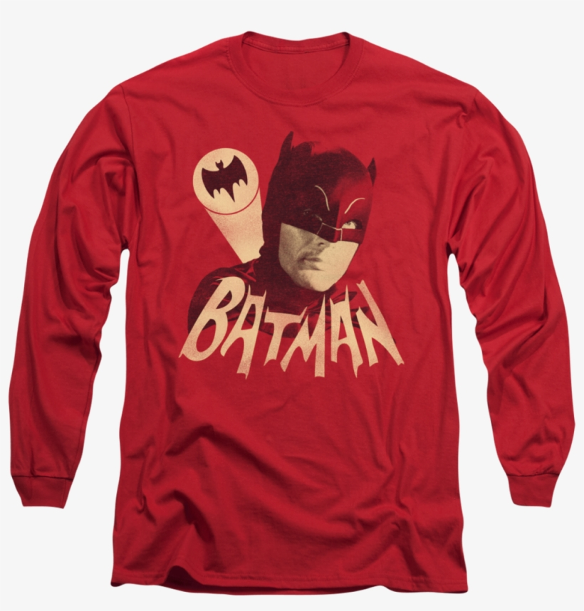 Dorkees - Com - Batman - The Bat Signal Long Sleeve - Long-sleeved T-shirt, transparent png #8451272