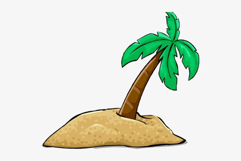 Palm Tree Clipart Desert Tree - Desert Island Clip Art, transparent png #8451729