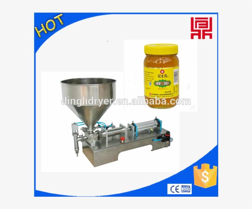Excellent Pneumatic Honey Jar Filling Machine 10 5000ml - Semi Auto Filling Machine, transparent png #8456404