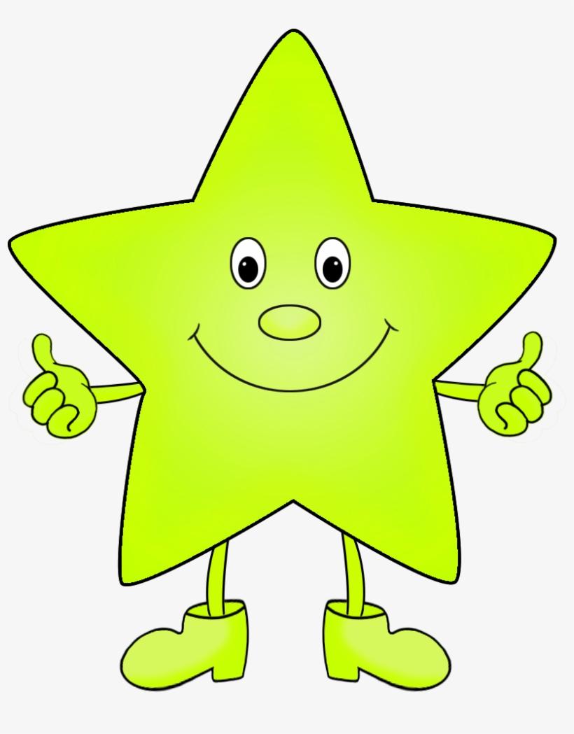 Light Green Funny Clip Art Of Star - Bright Star Funny, transparent png #8457121