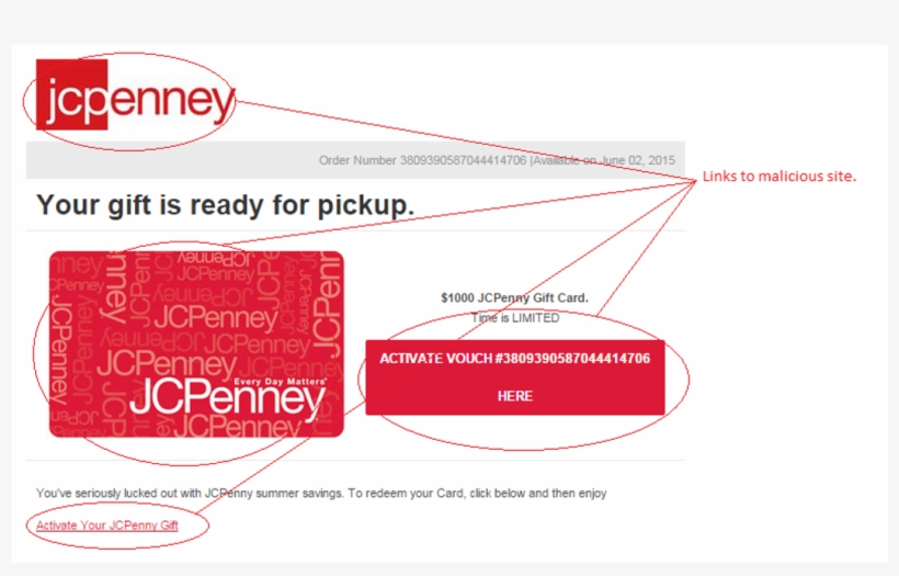 Fake Jcpenney Gift Cards Circulating - New Jcpenney, transparent png #8460044
