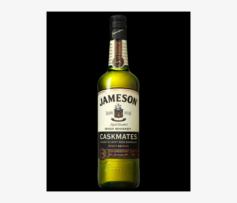 The Whiskey Has Been Finished In Stout-seasoned Casks, - Jameson Irish Whiskey, transparent png #8464727