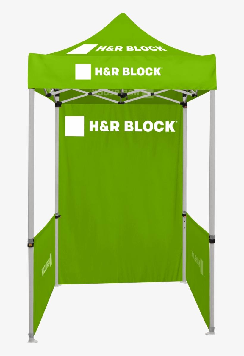 5ft X 5ft Pop Up Tent Canopy Complete Set Green - H&r Block, transparent png #8470946