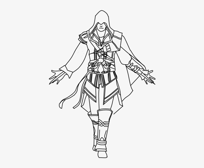 Ezio Drawing Badass Assassin S Creed Drawing Ezio Free Transparent Png Download Pngkey