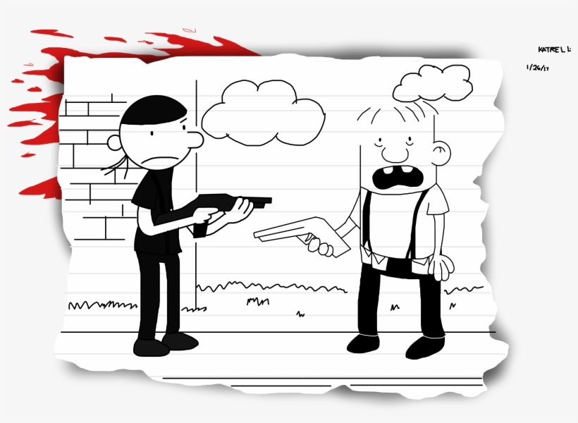 Svg Diary Drawing - Diary Of A Wimpy Kid Old School, transparent png #8472536
