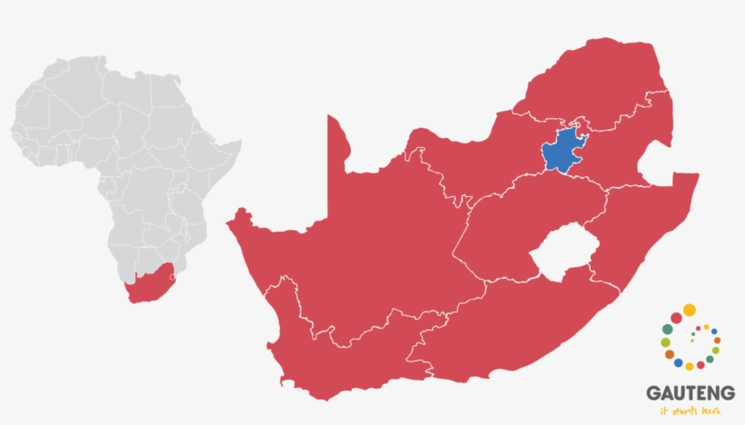 The Map Below Shows Gauteng's Positioning In Relation - Hd Map Of South Africa, transparent png #8474085