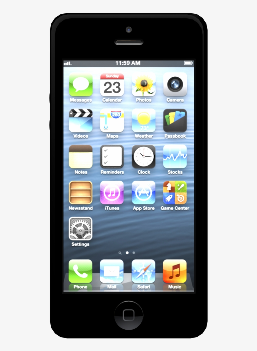 Iphone With 10 Backs Patterns 3d Model Obj Mtl 3ds - Iphone 5 Black Home Screen, transparent png #8478039