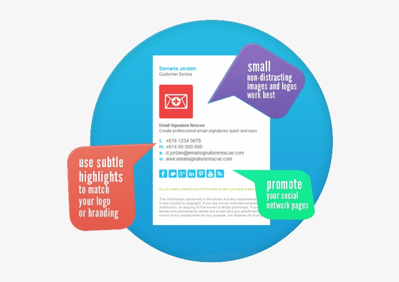 What Should I Include Professional Email Signature - Importance Of Email Signature Infographic, transparent png #8478980
