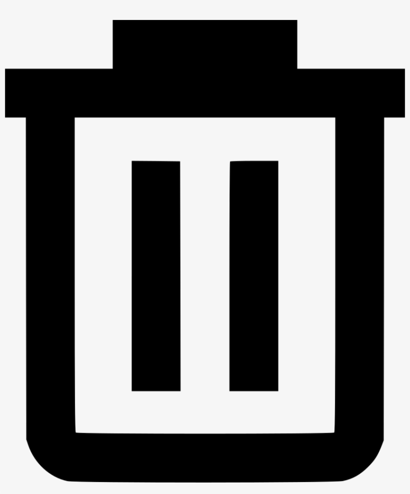 Vector Black And White Stock Trash Can Bin Delete Png - Scrap Icon, transparent png #8479669