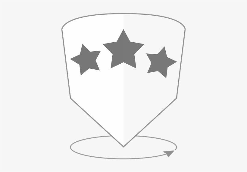 Star, Hotel, Review, Icon, Symbol, 360, All Around, - Emblem, transparent png #8486829