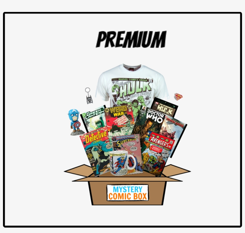 Mystery Comic Box - Free Transparent PNG Download - PNGkey