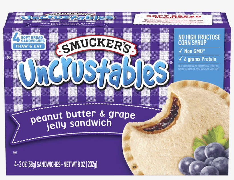 Peanut Butter And Jelly Sandwich Smuckers, transparent png #8488688